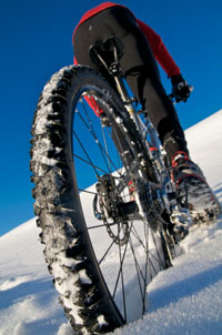 MTB is a great alternative for regular road training when is cold.