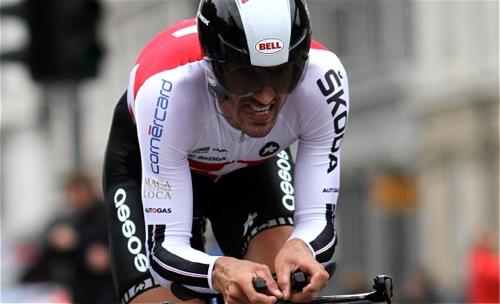 Fabian Cancellara at World Championships in TT in Copenhagen, Denmark.